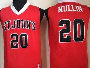 5f6fa6e2ffbc Retro Jerseys Vintage Basket Embroidery Shirt 2018 Mens  20 Chris Mullin ST  JOHN S