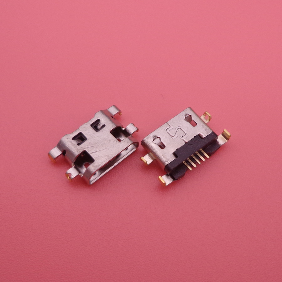 100PCS/Lot Micro Usb For <font><b>Alcatel</b></font> 7040N Charge Port Dock Socket For Lenovo A708t S890 For Huawei G7 G7-TL00 Charging Connector image