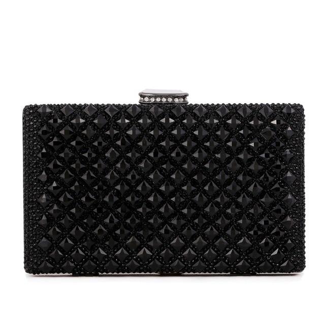 Acrylic diamonds women evening bags metal  day clutch purse hard case bags silver/coffee/black evening bag leather messenger bag