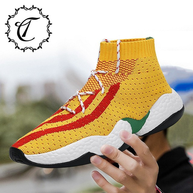 a2a54827 CatriCa Summer Breathable Sock Trainers Designer Male Men Shoes Fashion  High Quality Tennis Sneakers 2019 Black