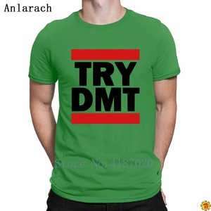 Image 4 - Try Dmt T Shirt Gift Super Knitted Trendy T Shirt For Men Male 100% Cotton Summer Anlarach Letters