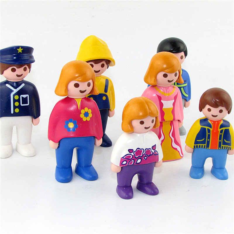 Mini Playmobil Figurine Toys For Children Original Playmobil Action Figures For Girls Fille Enfant School Students Christmas Toy