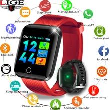 Get more info on the LIGE 2019 New Sport Smart Bracelet Men Women Ip67 Waterproof Fitness Tracker Smartwatch  Heart Rate Monitor pulsera Inteligente