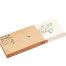 4 paczek/partia Vintage nastrój na miłość muzeum pocztówka ziołowa roślina kwiaty kartka z życzeniami/karta życzeń/moda prezent