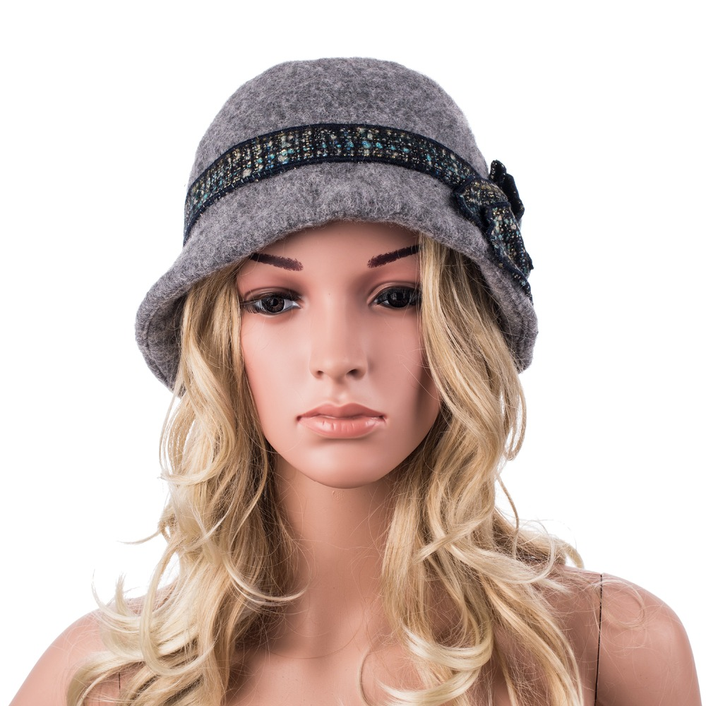 778be6c0196e7 Beret hats women thick warm wool winter hat 1920s vintage flapper cloche  hats for women two layer ear protect elegant ladies hat