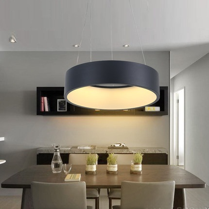 Simple Creative Round Acrylic Droplight Modern LED Pendant Lamp Fixtures For Dining Room Hanging Light Home Indoor Lighting 40cm acrylic round hanging modern led pendant light lamp for dining living room lighting lustres de sala teto