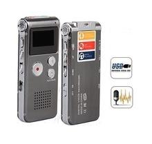 Перезаряжаемый внешний микрофон 4 Гб с голосовой активацией USB цифровой Аудио Диктофон MP3 плеер телефонный рекордер espiao
