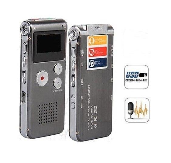 Rechargeable Externe Mic 4 GB Voix Activé USB Digital Audio Enregistreur Vocal Dictaphone Lecteur MP3 Téléphone Enregistreur espião