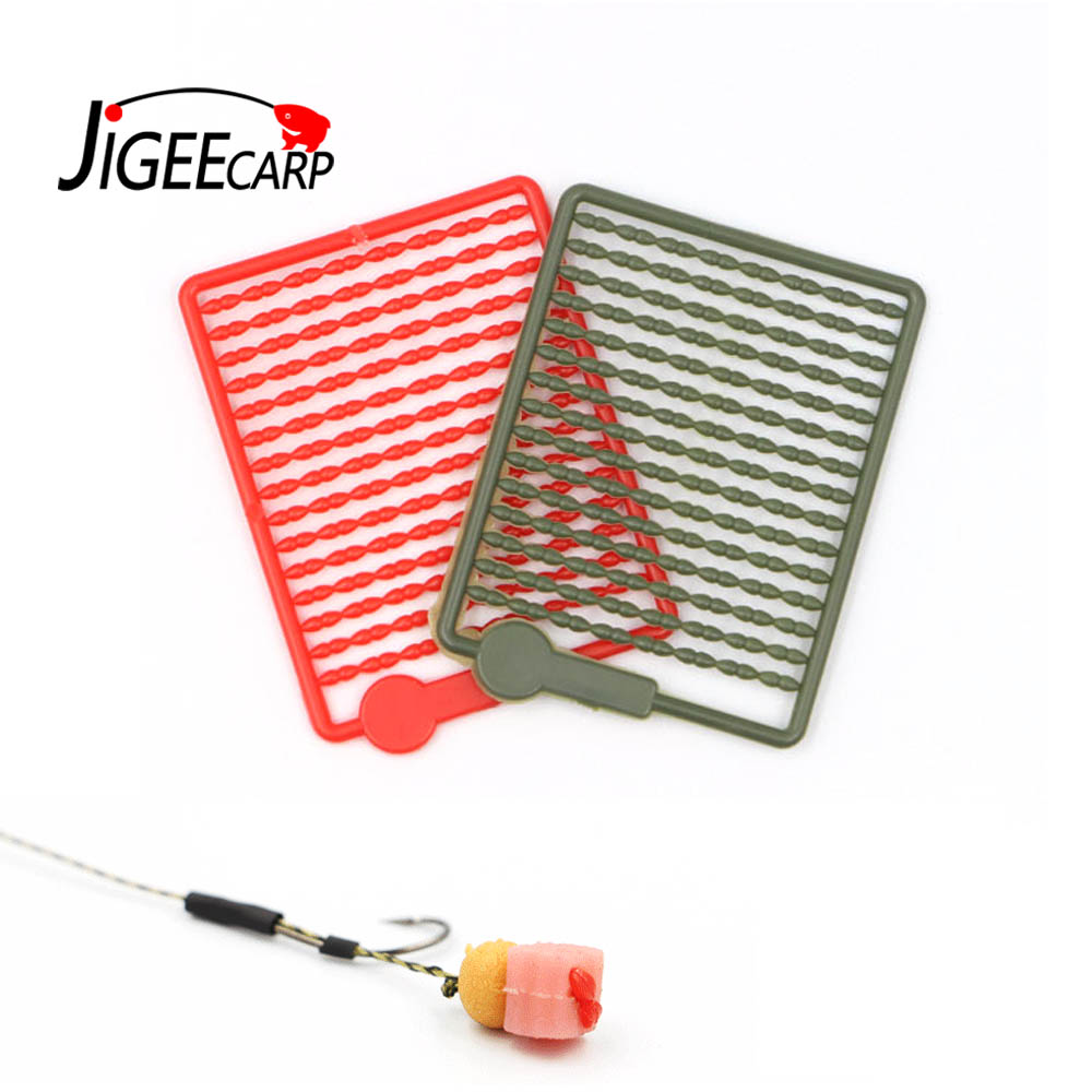 JIGEECARP 3Cards(360pcs) Carp Fishing Boilie Stoppers Multi Color Hair Rig Bait Accessory Fishing Bobber Stop Tackle Tools