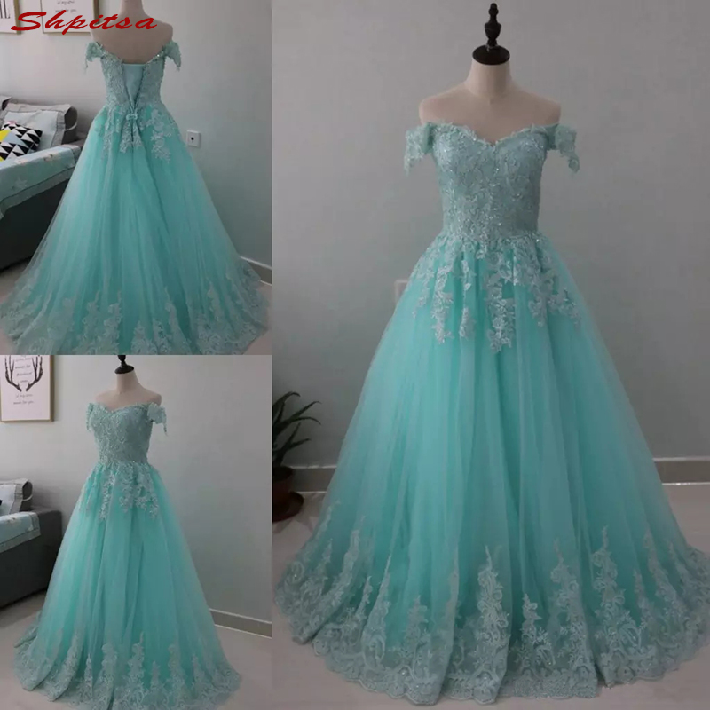 Long Sky Blue Mother Of The Bride Dresses For Wedding Lace A Line Evening Prom Groom Godmother Dinner Dresses