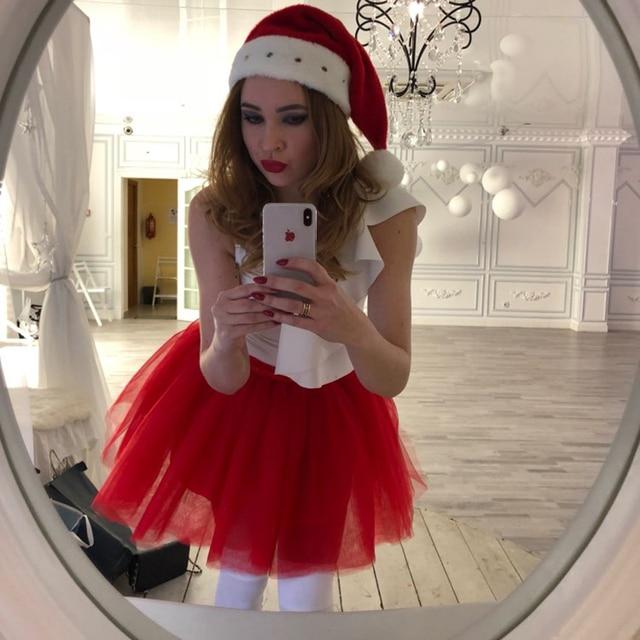 Skirts Womens 7 Layers Midi Tulle Skirt Fashion Tutu Skirts Women Ball Gown Party Petticoat 2019 Lolita Faldas Saia 5