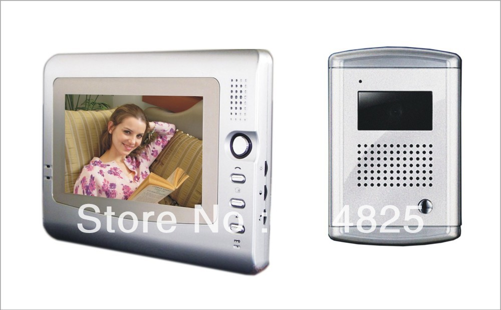 DWE CC RF 7 inch video door phone for villa color video intercom system with handfree monitor video door bellaluminium  camera практик 7 rf универсал
