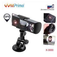 """AMPrime Auto Dual Lens DVR R300 Dash Cam 2.7 """"GPS Della Macchina Fotografica 140 Gradi Video Recorder Auto DVR con il GPS g-Sensore Videocamera"""