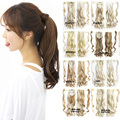 Another 16 colors Wave Mixed Magic Hair Ponytail Hair Pieces Drawstring Ribbon Hairpiece Clip In Pony Tail Hair Extensions