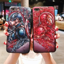 Luxury Avengers Marvel Captain America Iron Man Comics Patterned Phone Case For iPhone XS MAX XR 8 7 6 6s Plus Cover