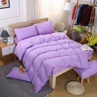 Light Purple Comforter Cover 4PCS Bedding Set girl duvet cover set home hotel bedsheet Pillowcase queen king size women Bedlinen