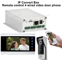 Беспроводной Wi Fi ip коробок Поддержка Wi Fi, кабельное соединение SIP видео телефон двери дистанционного разблокировки проводной цифровой сист