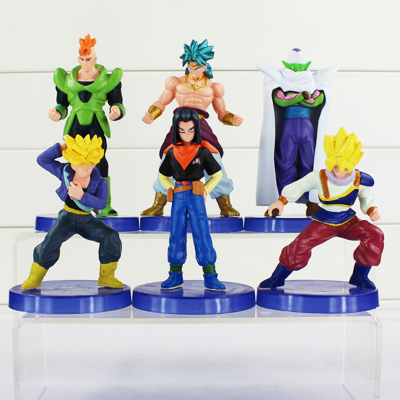 6pcs/lot Dragon ball z figures 11th Goku figure chidren toy Good gift For Children Free Shipping