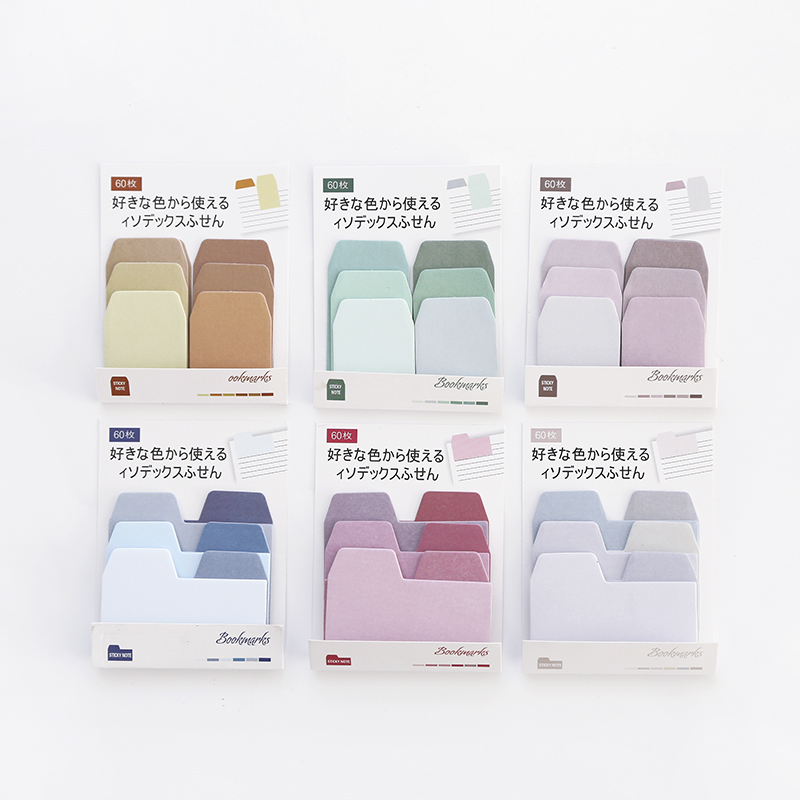 Color Gradient Index Post it Notes Small Memo Pad, DIY Notebook Self-Adhesive Sticky Notes Papeleria Planner Stickers