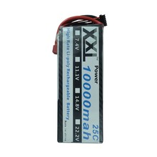 XXL Au Lithium polymère Batterie 18.5 V 10000 mAh 5S 25C pour Rc Hélicoptère Airplance Quadcopter Drone Bateria Lipo
