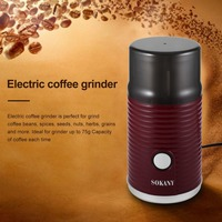 Electric Coffee Grinder Stainless Steel Blades Coffee Grinder 180W for Home Office Coffee Beans Seed Bean Nut Herb Pepper&Grain