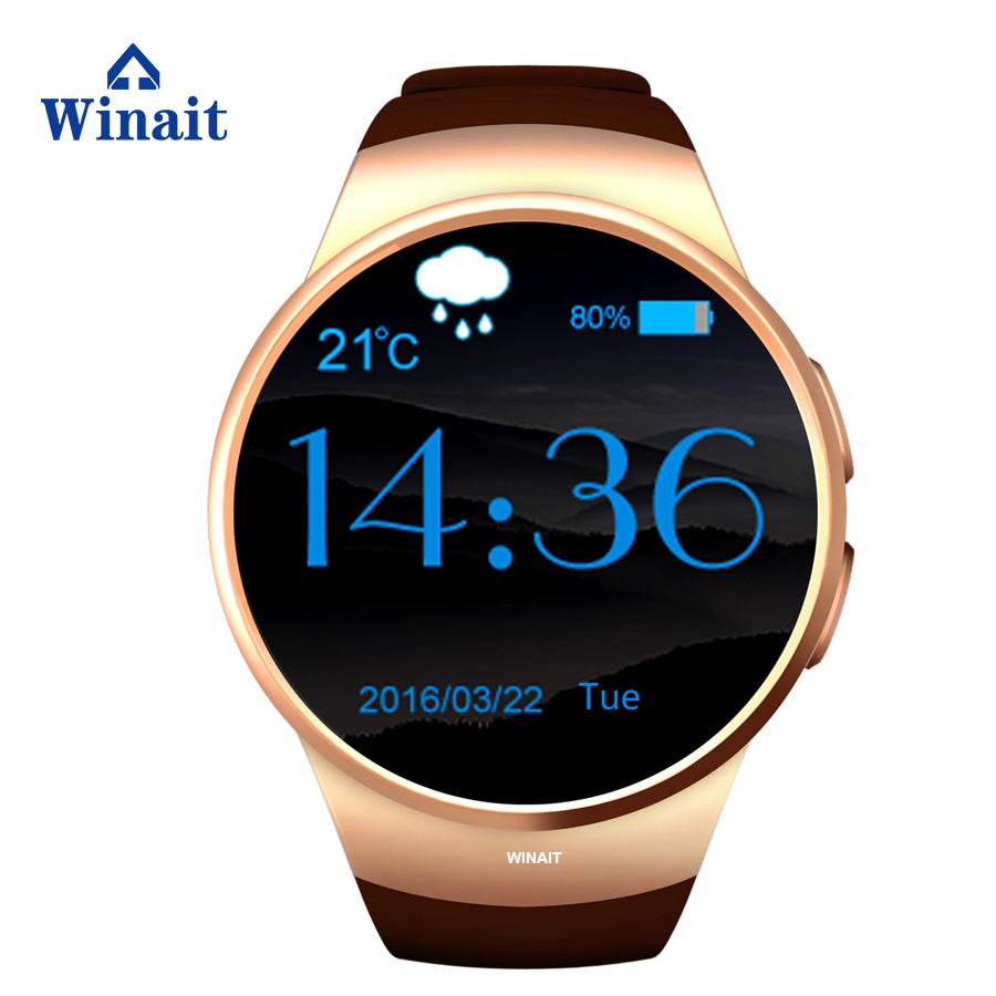 winait GSM heart rate monitor watch KW18 CPU MTK2502C support IOS + Android 350 mAh high power polymer battery