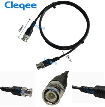 NEW Cleqee P1013 BNC Q9 Male Plug To BNC Q9 Male Plug Oscilloscope Test Probe Cable Lead 100CM BNC-BNC цены