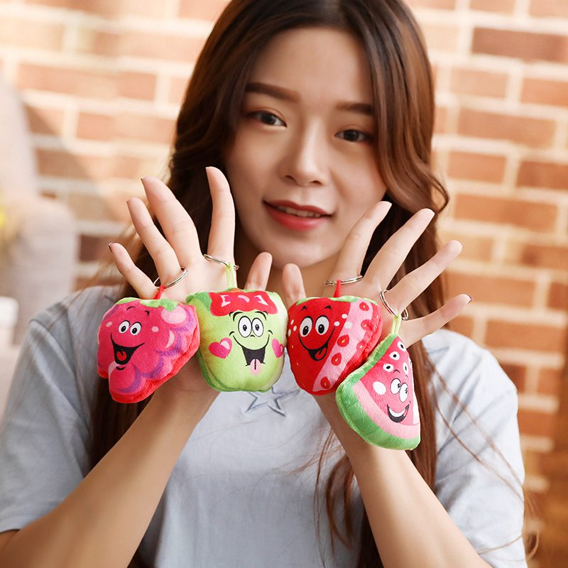 Stuffed Animals & Plush Open-Minded 1pc 8cm Kawaii Fruit Keychain Pendant Real Life Plush Fruit Pillows Stuffed Strawberry Chili Doll Personal Bag Pendant For Girls Curing Cough And Facilitating Expectoration And Relieving Hoarseness