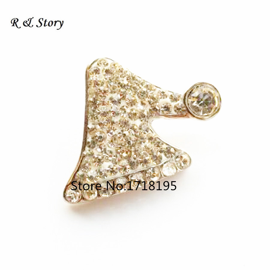 Hot Sale Snap Jewelry Button For Bracelet Necklace Fashion DIY Jewelry Crystal Santas Hat Christmas Collection Snaps SB_1046