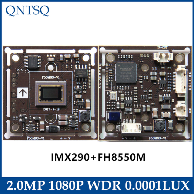 """1080 p ソニー 1/2 。 8 """"IMX290/IMX327 + FH8550M CMOS ボード 2MP 4in1 WDR StarlightCoaxial 高精細、 CCTV AHD 、、 CVI TVI 、アナログカメラ"""