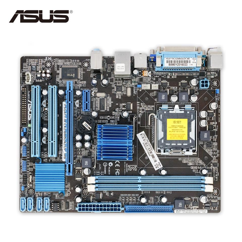 Asus P5G41T-M LX2 DP Original Used Desktop Motherboard P5G41T-M LX 2 DP G41 Socket LGA 775 DDR3 u-ATX On Sale asus p5kpl epu original used desktop motherboard p5kpl g31 socket lga 775 ddr2 atx on sale