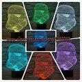 Lâmpada criativa Star Wars Guerreiro branco Acrílico 3D ilusão, Clone força gradiente colorido visual 3D LED nightlight Presentes de Aniversário