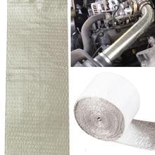 Автомобильная утолщенная теплоизоляционная теплозащитная отражающая Алюминиевая фольга лента 5 м* 5 см 6 шт. крышка трубы двигателя Авто температура Изолированная
