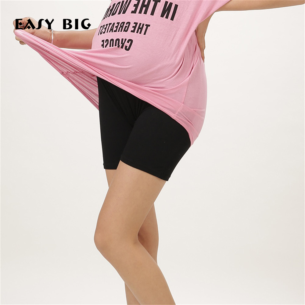 EASY BIG Summer Classic Adjustable Maternity Tights Elasticity Care Belly Safty Shorts Clothes For Pregnant Women MC0017