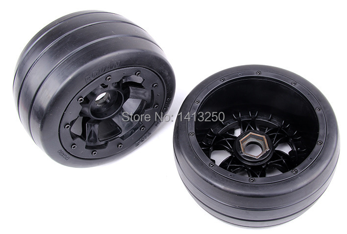 5B Rear Slicks  wheels set, for baja parts,free shipping. 5b high strength nylon rear macadam wheels set for baja parts free shipping