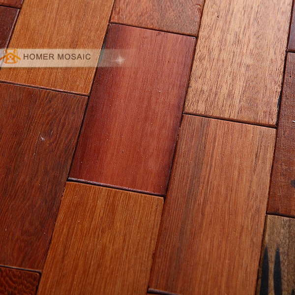 Natural Wood Mosaic Tile Rustic Wood Wall Tiles, Subway Brick Pattern, Kitchen  Backsplash Tiles Bathroom Shower In Wall Stickers From Home U0026 Garden On ...