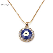 Turkish Blue Evil Eye Pendant Necklaces for Women Gold Silver Color Beads Chain Necklace Women Girls Jewelry Gifts