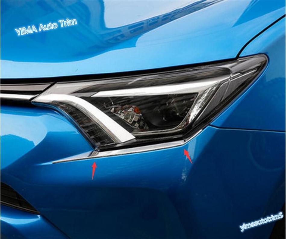 Lapetus Auto Styling Chrome prednja svjetla prednjih svjetala Svjetiljka obrva traka za obloge za Toyota RAV4 Rav 4 2016 2017 2018 ABS