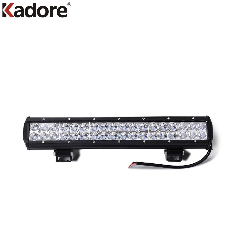 цена на New 17''Inch 108W LED Car Ramp Lamp Spot Flood Combo LED Working Lightt Bar For Work Off Road Truck Tractor SUV ATV 4X4