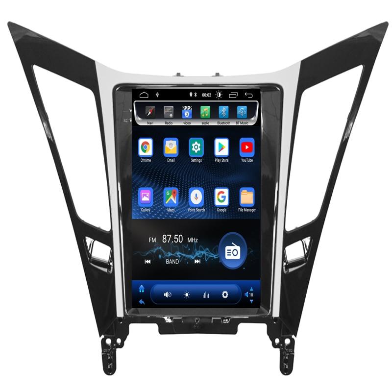 2019 new come!Vertical Screen Tesla Style Android 7.1 Car DVD GPS Navigation Player radio for Hyundai sonata 2012 2013 2014