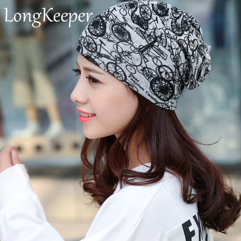 LongKeeper Unisex Thin Beanie Hat Female Skullies and Beanies Women Turban Skully Hat Cap Hip Hop Hats Gorros Toucas [jamont] love skullies women bandanas hip hop slouch beanie hats soft stretch beanies q3353