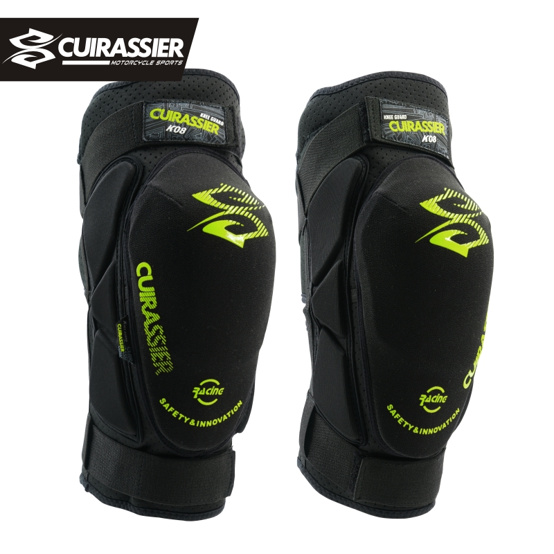 Cuirassier K08 Motorcycle Knee Pads Motocross MX Kevlar Knee Protectors Shin Guards protective Gears Skating Racing Riding Brace