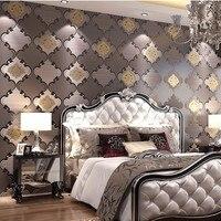 Suede Fringe Curve Modern Pattern Wallpaper Papel De Parede 3d Mural Wall Decals Non Woven Bedroom