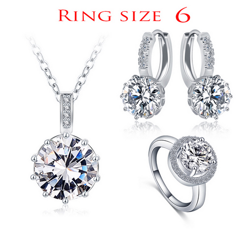 Luxury Classical Women Designer Jewelry Set of Round Necklace