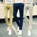 Men Brand Khaki Pants Slim Taper Quality Trousers Cotton Casual Modern Pantalones Hombre Social Masculina