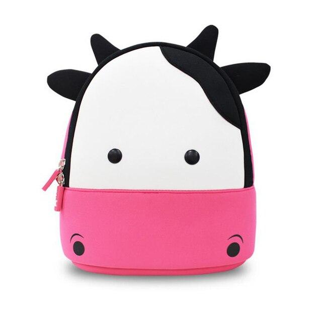 Дети школьные сумки Водонепроницаемый 3D Корова мультфильм животных рюкзак девушки дети рюкзаки детский сад мешок школы мешок вагонетки школы