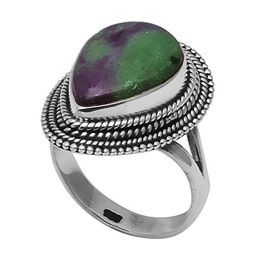 Genuine Ruby Zoisite Ring 925 Sterling Silver,USA Size :7, 2SR0210