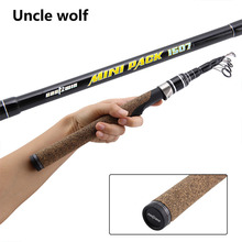 Buy online Winter Fishing Rods Ice Fishing Rod Short  Spinning Fishing Pole Telescopic Mini Fishing Rod Carbon Boat Canne 1.5M 15-50g Lure