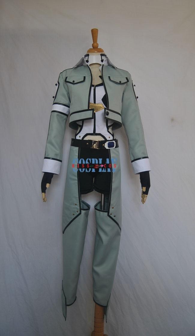 NEW Sword Art Online 2 Phantom Bullet Gun Gale Online Cosplay Costume S-2XL Custom-made Free Shipping