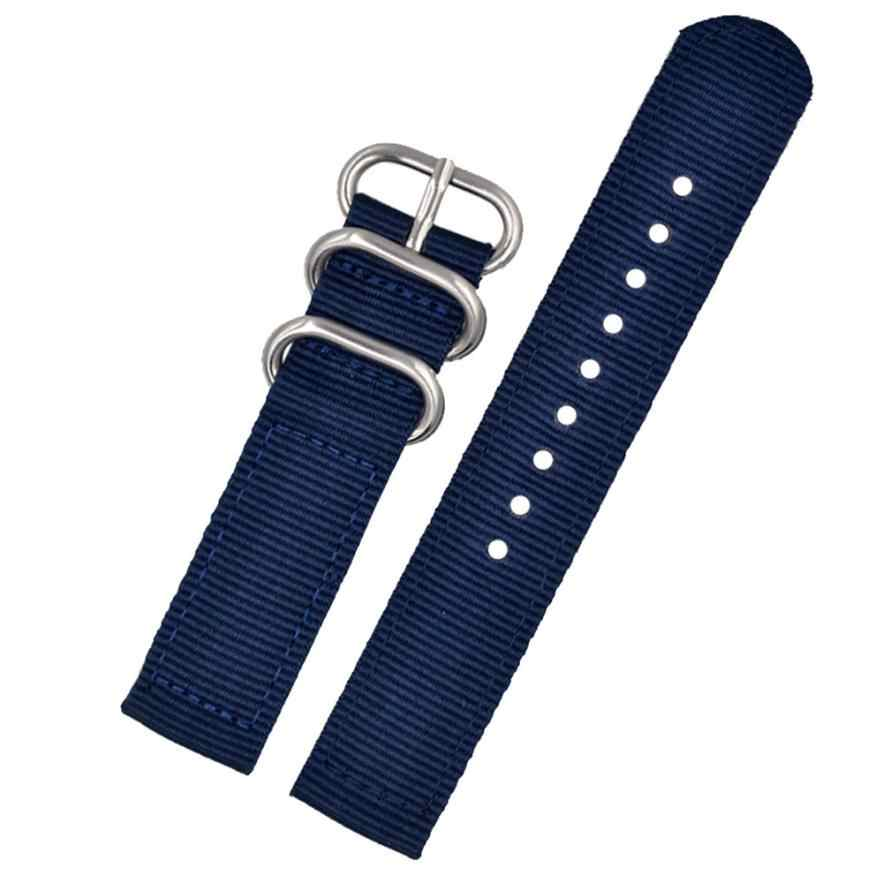 22mm de alta calidad para hombre, correa de muñeca de nailon militar, para reloj, hebilla de acero inoxidable, para bobo bird Watch mecánica 50 P